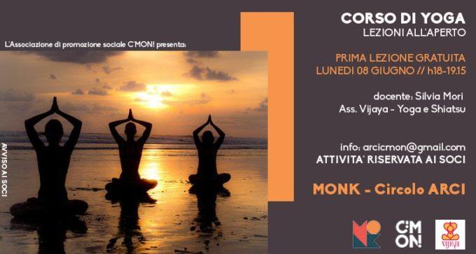 yoga all'aperto, roma, monk circolo arci