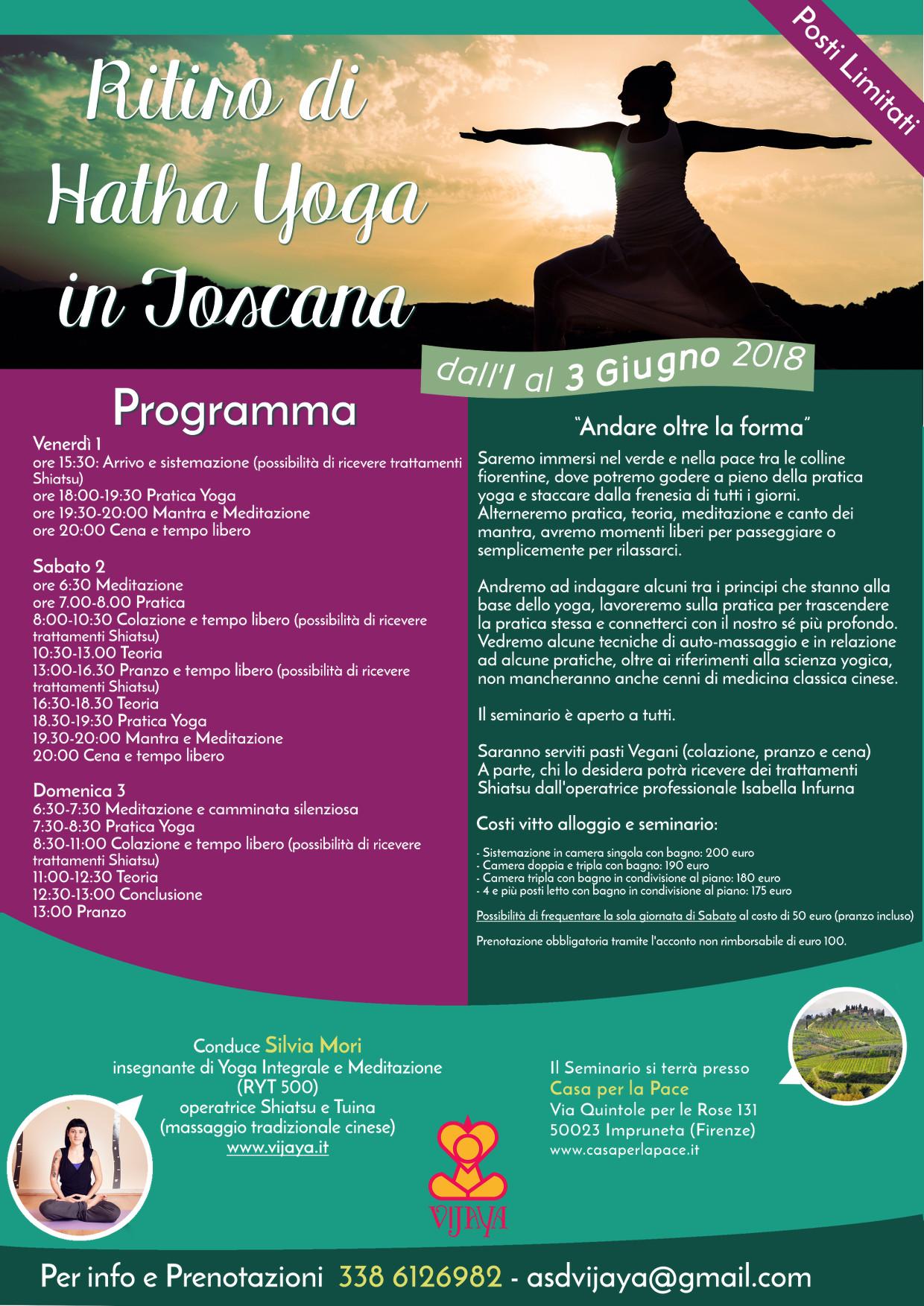 Ritiro di Yoga Estate All'aperto in Toscana Firenze