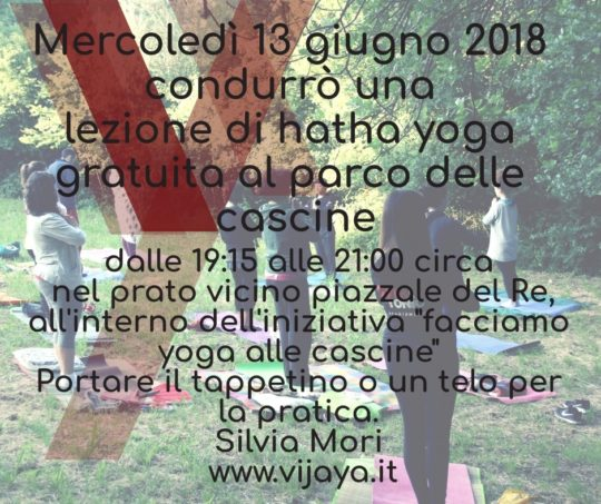 yoga all'aperto alle cascine
